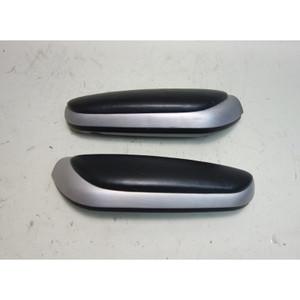 2000-2006 BMW E46 3-Series Convertible Side Armrest Aluminum Black Napa Leather - 31038