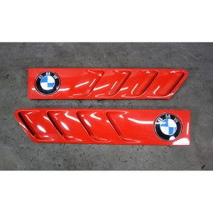 1996-2002 BMW Z3 Roadster Coupe Exterior Side Cowl Grille Pair Bright Red OEM - 31226