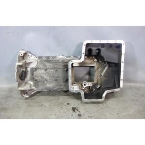 Damaged BMW E39 M5 S62 5.0L V8 Upper Oil Pan Crank Case Sump w Crack OEM - 31232