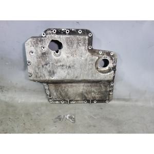 Damaged BMW E39 M% S62 5.0L V8 Lower Oil Pan Sump Aluminum w Cracks OEM - 31234