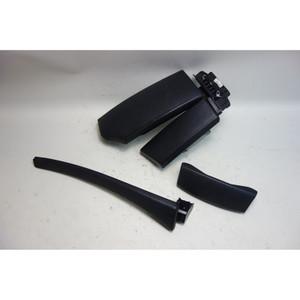 2008-2010 BMW E60 5-Series Front Center Console Armrest Set Black Leather OEM - 31266