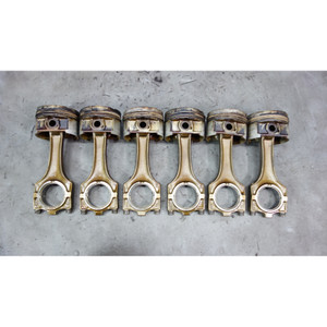 1993-1999 BMW M50 2.5L 6-Cylinder Piston and Connecting Rod Set of 6 E34 E36 OEM - 31296