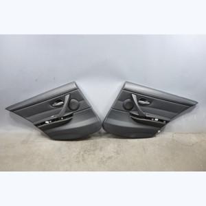 2006-2012 BMW E90 E91 3-Series 4dr Factory Rear Interior Door Panel Trim Black - 31298
