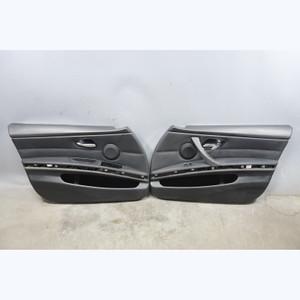 2006-2008 BMW E90 E91 3-Series 4door Front Interior Door Panels Black Leather OE - 31302