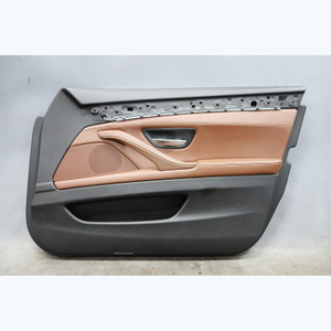 2011-2016 BMW F10 5-Series Front Right Passengers Door Panel Trim Brown Leather - 31344