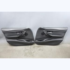2012-2017 BMW F30 3-Series F31 4dr Front Int Door Panel Trim Skin Black Vinyl OE - 31459