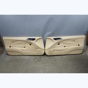 Damaged 2000-2006 BMW E46 3-Series Front Interior Door Panels Beige Vinyl OEM - 31587