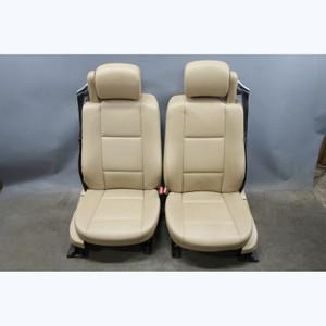 2000-2006 BMW E46 3-Series Convertible Front Seat Pair Beige Vinyl Heat OEM - 31617