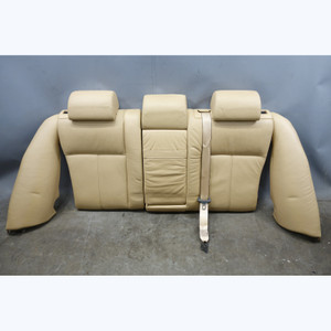1999-2003 BMW E39 5-Series Touring Wagon Rear Fold-Down Seat Back Beige Leather - 31663