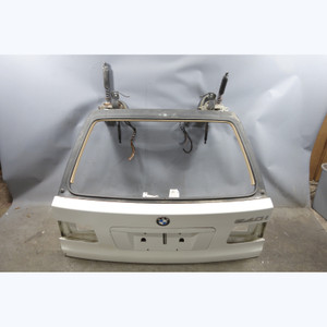 1999-2003 BMW E39 5-Series Touring Wagon Rear Trunk Lid Tail Gate Door White OEM - 31703
