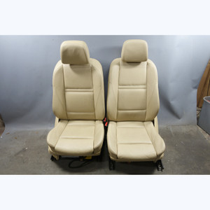 2007-2014 BMW E70 E71 X5 X6 SAV Factory Front Sports Seat Pair Beige Leather OEM - 31727