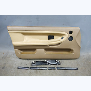 1997-1999 BMW E36 3-Series 2dr Front Left Interior Door Panel Trim Skin Beige OE - 31754