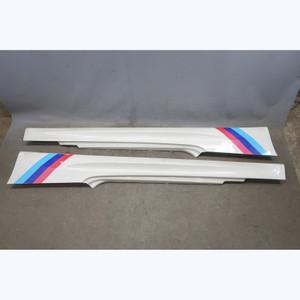2008-2013 BMW E92 M3 Coupe Factory ///M Side Skirt Rocker Pair Alpine White OEM - 31789