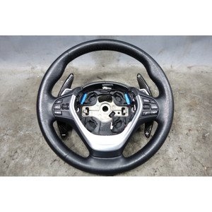 2012-2018 BMW F22 2-Series F30 Leather Sport Steering Wheel Heat w Paddles OEM - 32528