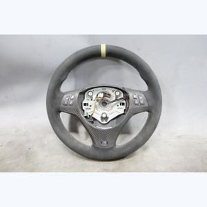 2008-2013 BMW E9x 3-Series E82 M Sport Steering Wheel Alcantara M Stitching OEM - 32739