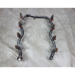 1993-1997 BMW E32 E38 740 E34 M60 M62 V8 Early Fuel Rail with Injectors OEM - 32756