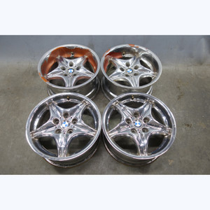 """1998-2002 BMW M Roadster Coupe 17"""" Staggered Style 40 Roadstar Wheel Set OEM - 32858"""