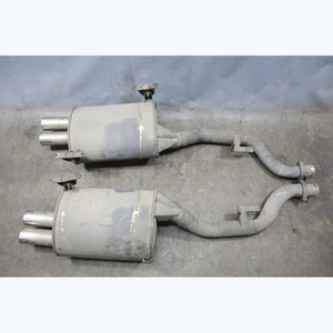 Damaged 1998-2002 BMW Z3 ///M 3.2 Roadster Coupe Rear Exhaust Muffler Pair OEM - 32887