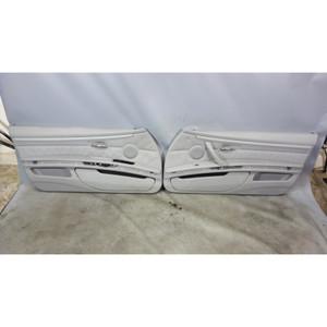 2007-2011 BMW E92 E93 3-Series 2door Interior Door Panels Grey Leather OEM - 32286