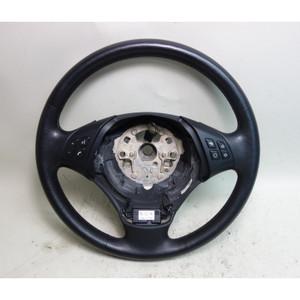 2006-2012 BMW E90 E91 3-Series 4door Factory Leather Steering Wheel w Heat OEM - 32288