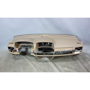 2003-2008 BMW E66 760Li V12 Factory Leather Stitched Dashboard Panel Beige OEM - 32366