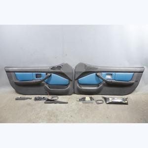 2001-2002 BMW Z3 M Roadster Coupe Interior Door Panel Pair Laguna Seca Blue OEM - 32423