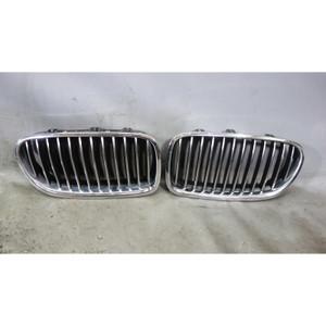 2011-2013 BMW F10 5-Series Sedan Front Factory Kidney Grille Pair Left Right OEM - 32425