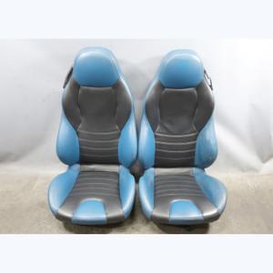 1998-2002 BMW Z3 M Roadster Front Sport Seat Pair Laguna Seca Blue w/o Rails OEM - 32469