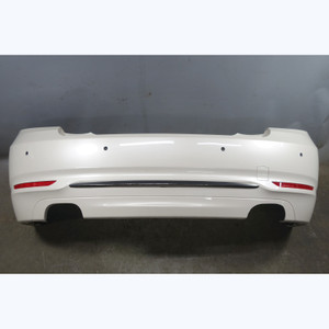Damaged 2014-2017 BMW F22 F23 2-Series Rear Bumper Cover Mineral White PDC OEM - 32490