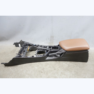 2014-2017 BMW F22 F23 2-Series Black Center Console with Armrest Terra Brown OEM - 32499