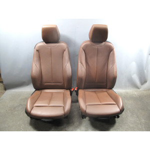 2014-2017 BMW F22 2-Series Coupe Front Sport Seat Pair Heated Terra Leather OEM - 32507