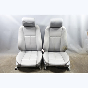 1999-2003 BMW E39 5-Series E38 Factory Front Sport Seats Grey Leather OEM - 33050