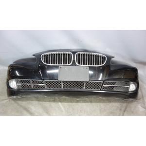 2011-2013 BMW F10 5-Series Factory Front Bumper Trim Cover Jet Black 2 PDC OEM - 33055