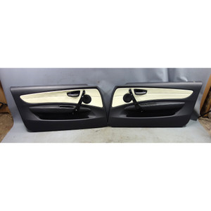 2008-2013 BMW 1-Series E88 Convertible Front Door Panel Lemon Leather OEM USED - 33132