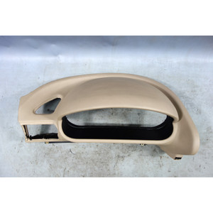 1996-2002 BMW Z3 Roadster Coupe Left Front Dashboard Dome Trim Section Beige OEM - 33153