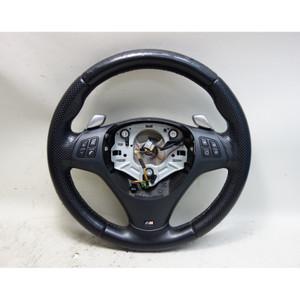 2008-2013 BMW E90 3-Series E82 1-Series M-Sports Paddle Shift Steering Wheel OEM - 33195