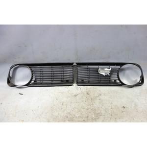 1974-1976 BMW 114 2002 2002tii Headlight Grille Grill Pair Black Plastic OEM - 33212