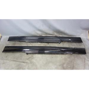 2008-2013 BMW E82 E88 1-Series M Outside Side Skirt Rocker Panel Pair Jet Black - 33216