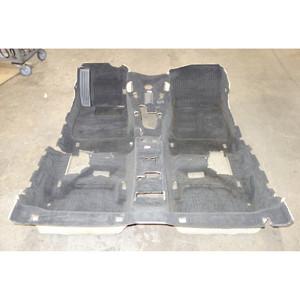 2008-2013 BMW E88 1-Series Convertible Interior Floor Covering Carpet Set Black - 33220