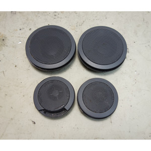 BMW E36 3-Series Door Speaker Mid-Range Tweeter Pair Grey 1995-1999 USED OEM - 33257