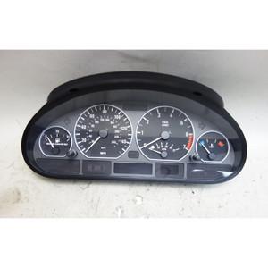 BMW E46 330 AUTO SMG Instrument Gauge Cluster Chrome Speedo Tach 2001-2005 - 33582