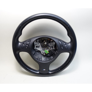 2001-2006 BMW E46 M3 E39 M5 M Sports Leather Steering Wheel Multifunction - 33814