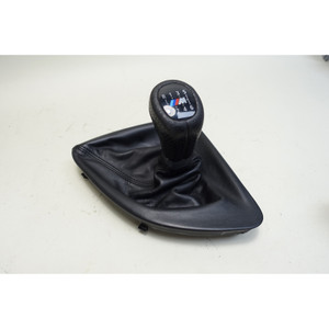 2008-2013 BMW E82 1-Series E88 Factory ///M 6-Speed Shift Knob Cover Trim Black - 33863