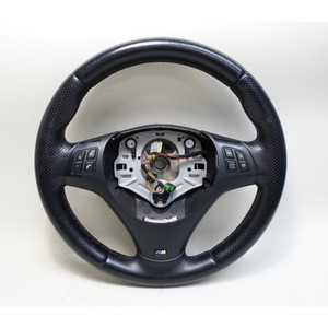 2006-2013 BMW E90 3-Series 1-Series Factory M Sports Leather Steering Wheel OEM - 33866