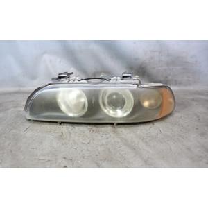 Damaged 2001-2003 BMW E39 5-Series Late Left Front Halogen Headlight Lamp White - 34028
