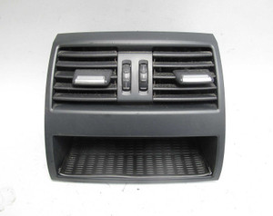 2011-2017 BMW F10 5-Series Center Console Rear Fresh Air Vent Black USED OEM - 15205