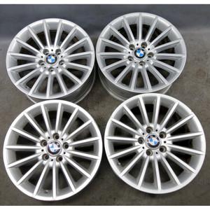 "BMW F10 5-Series F12 Factory 18"" Style 237 Radial Spoke Alloy Wheel Set of 4 OEM - 34297"