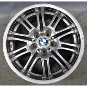 "Damaged 01-06 BMW M3 Factory Front 18"" M Double Spoke Style 67 Wheel  Grey OEM - 34231"