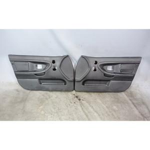 1997-1998 BMW E36 3-Series Sedan Front Interior Door Panels Black Vinyl OEM - 34100