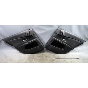 2006-2010 BMW E60 M5 Rear Interior Door Panel Trim Skin Pair Black Leather OEM - 34106